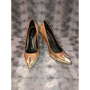 Boutique 9 Brown Leather Pointed Toe Pumps 7.5